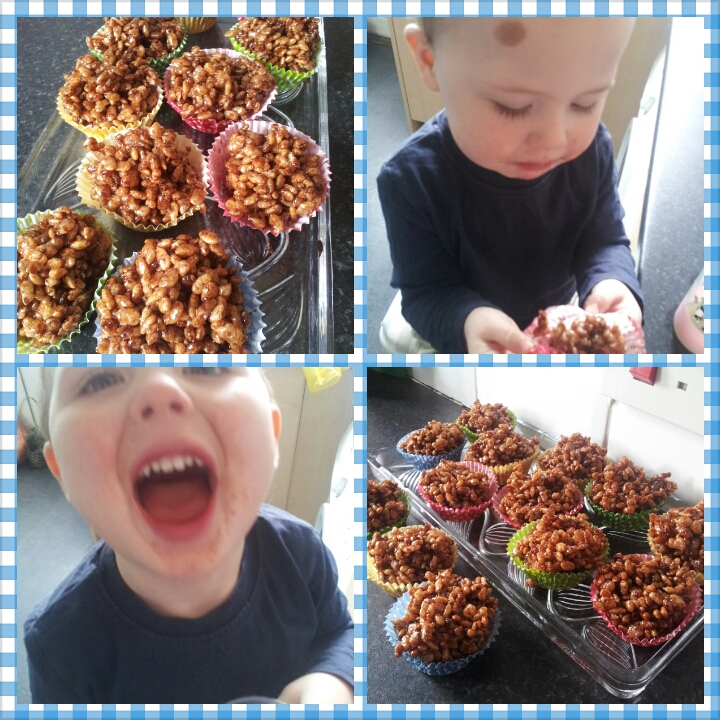free from chocolate krispie cakes